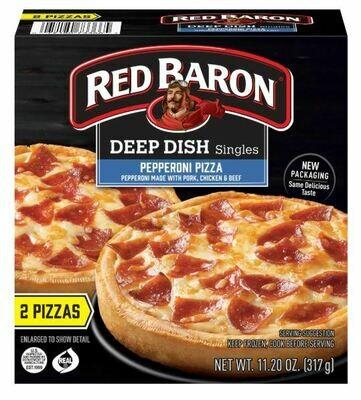 Frozen Pizza, Red Baron® Deep Dish Pepperoni Pizzas (11.2 oz Box, 2 Pizzas)