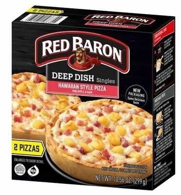 Frozen Pizza, Red Baron® Deep Dish Hawaiian Pizzas (10.56 oz Box, 2 Pizzas)