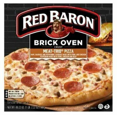 Frozen Pizza, Red Baron® Brick Oven 3 Meat Pizza (18.22 oz Box)
