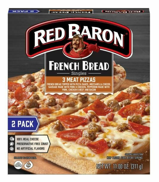 Frozen Pizza, Red Baron® French Bread Pepperoni Pizzas (34.2 oz Box, 6 Pizzas)