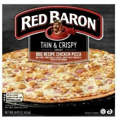 Frozen Pizza, Red Baron® Thin Crust BBQ Chicken Pizza (14.97 oz Box)