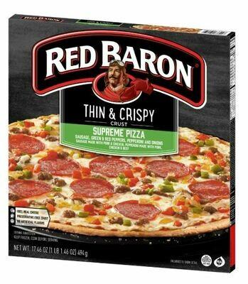 Frozen Pizza, Red Baron® Thin Crust Supreme Pizza (17.46 oz Box)