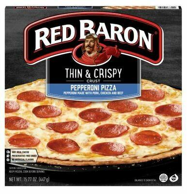 Frozen Pizza, Red Baron® Thin Crust Pepperoni Pizza (15.77 oz Box)