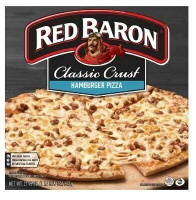 Frozen Pizza, Red Baron® Classic Crust Hamburger Pizza (21.95 oz Box)