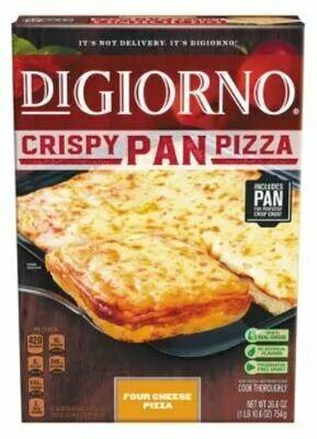 Frozen Pizza, Digiorno® Crispy Pan, Four Cheese Pizza (26.6 oz Box)