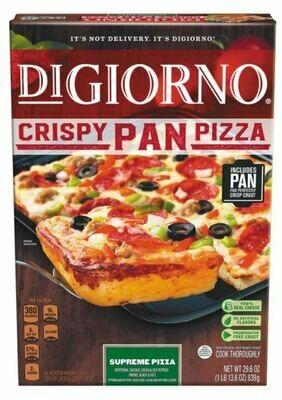 Frozen Pizza, Digiorno® Crispy Pan, Supreme Pizza (29.6 oz Box)