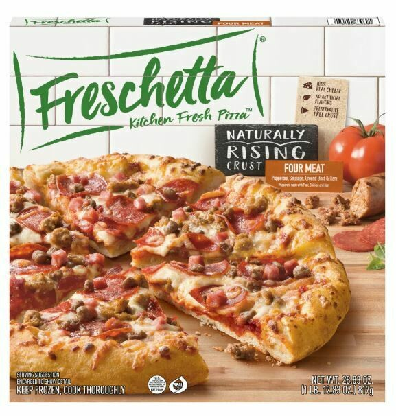 Frozen Pizza, Freschetta® Rising Crust, Four Meat Pizza (28.83 oz Box)