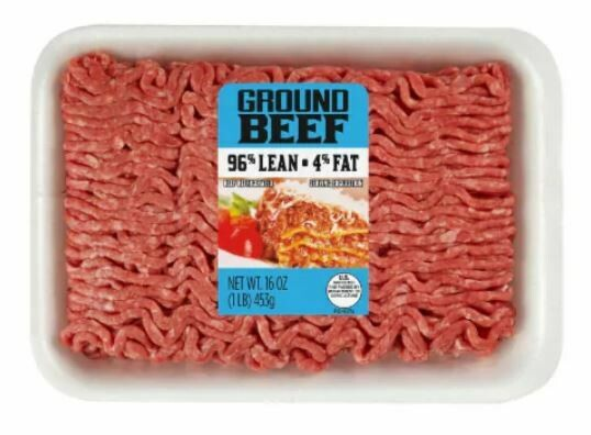 Beef, Ground Beef 96% Lean (1 lb Tray)