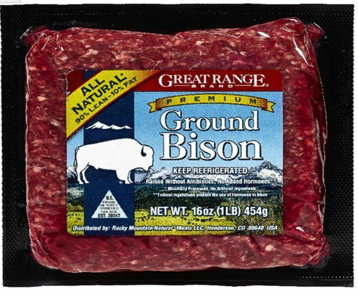 Bison, Great Range® Ground Bison 90% Lean (16 oz Package)