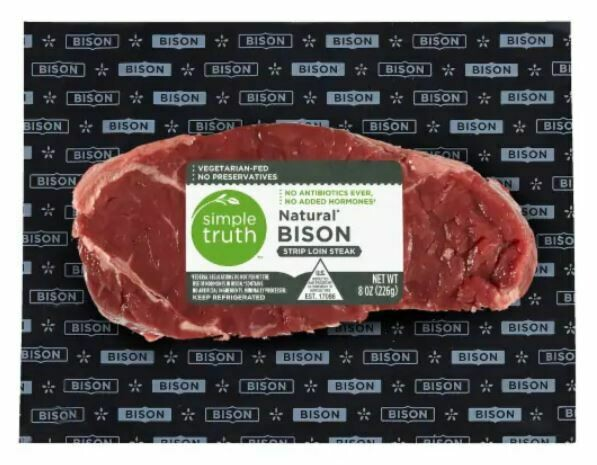 Bison, Simple Truth™ Natural Bison Strip Loin Steak (8 oz Package)