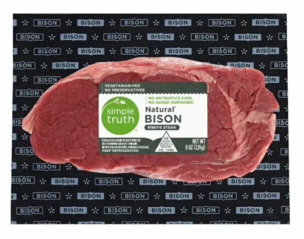 Bison, Simple Truth™ Natural Bison Ribeye Steak (8 oz Package)