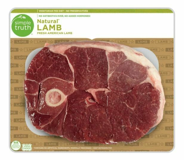 Lamb, Simple Truth™ Natural Lamb Leg Bone In Steak (16 oz Bag)