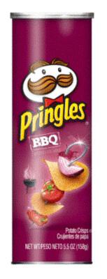 Potato Chips, Pringles® Barbeque Potato Chips (5.5 oz Can)