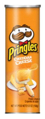 Potato Chips, Pringles® Cheddar Cheese Potato Chips (5.5 oz Can)