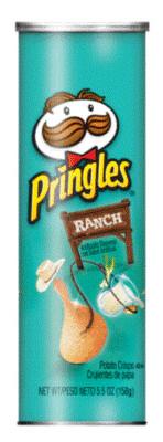 Potato Chips, Pringles® Ranch Potato Chips (5.5 oz Can)