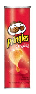 Potato Chips, Pringles® Original Potato Chips (5.2 oz Can)