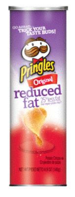 Potato Chips, Pringles® Reduced Fat Original Potato Chips (4.9 oz Can)