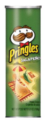 Potato Chips, Pringles® Jalapeño Potato Chips (5.5 oz Can)