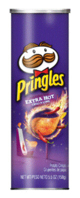 Potato Chips, Pringles® Extra Hot Potato Chips (5.5 oz Can)