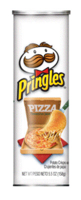 Potato Chips, Pringles® Pizza Potato Chips (5.5 oz Can)