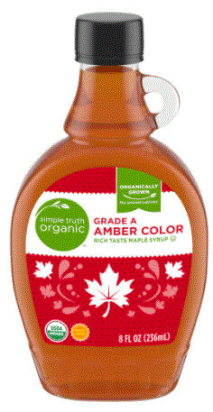 Pancake Syrup, Simple Truth™ Organic Grade A Amber Maple Syrup (8 oz Bottle)