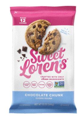 Cookie Dough, Sweet Loren's® Gluten Free Chocolate Chunk Place & Bake Cookie Dough (12 oz Bag)