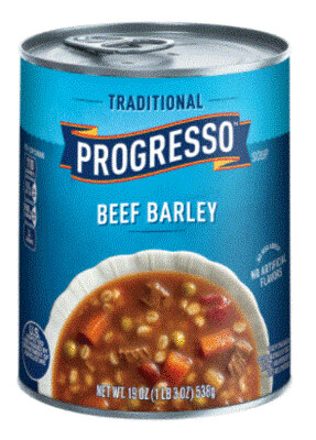 Canned Soup, Progresso® Traditional® Beef Barley Soup (18.5 oz Can)