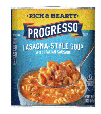 Canned Soup, Progresso® Rich & Hearty®Lasagna-Style Italian Sausage Soup (18.5 oz Can)