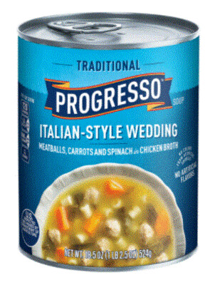 Canned Soup, Progresso® Traditional® Italian-Style Wedding Soup (18.5 oz Can)