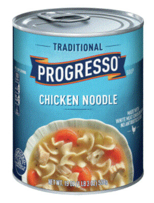 Canned Soup, Progresso® Traditional® Chicken Noodle Soup (18.5 oz Can)