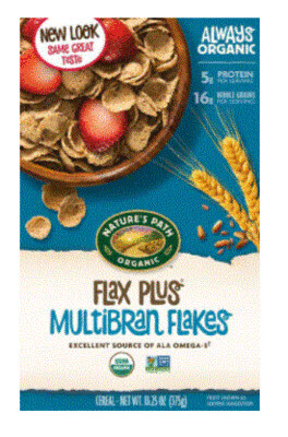 Cereal, Nature's Path® Organic Flax Plus Multibran Flakes Cereal (13.25 oz Box)
