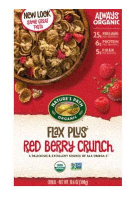 Cereal, Nature's Path® Organic Flax Plus Red Berry Crunch Cereal (10.6 oz Box)