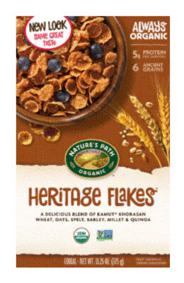 Cereal, Nature's Path® Organic Heritage Flakes Cereal (13.25 oz Box)
