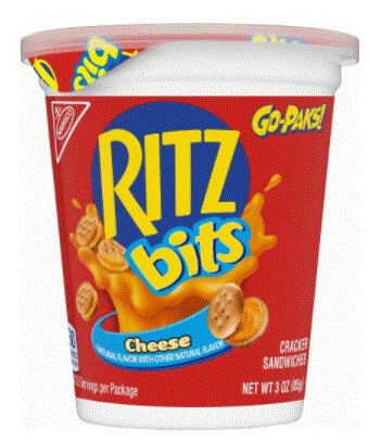 Crackers, Ritz Bits® Cheese Go-Paks™ Crackers (3 oz Cup)