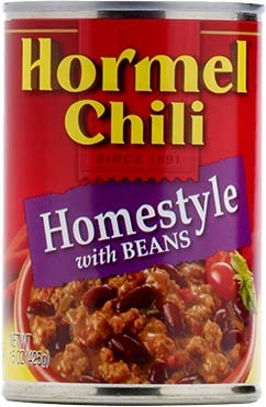 Canned Chili, Hormel® Homestyle Chili with Beans 15 oz Can