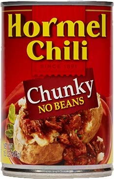 Canned Chili, Hormel® Chunky Chili with No Beans 15 oz Can