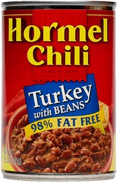 Canned Chili, Hormel® Turkey Chili with Beans 15 oz Can