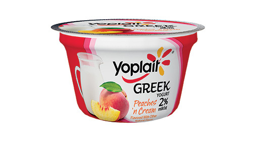 Yogurt, General Mills® Yoplait® Greek 2% Yogurt, Peaches & Cream