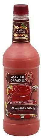 Drink Mixer, Master Of Mixes® Strawberry Colada Mix (1 Liter Bottle - 33.8 oz)