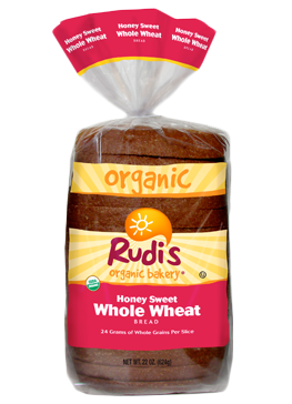 Loaf Bread, Rudi's® Honey Sweet Whole Wheat Bread (22 oz Bag)