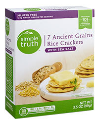 Crackers, Simple Truth™ 7 Ancient Grain Rice Crackers with Sea Salt (3.5 oz Box)