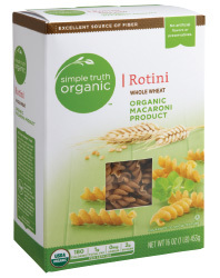 Pasta, Simple Truth Organic™ Whole Wheat Rotini Macaroni, 6 oz Box