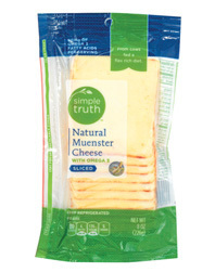 Cheese, Simple Truth™ Sliced Muenster Cheese (8 oz Resealable Pouch)