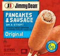 Frozen Pancakes, Jimmy Dean® Original Pancakes N Sausage on a Stick (12 Count, 30 oz Box)