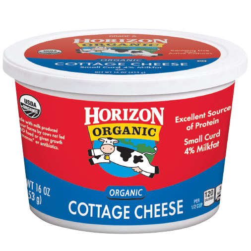 Cottage Cheese, Horizon® Organic Cottage Cheese (16 oz Cup)