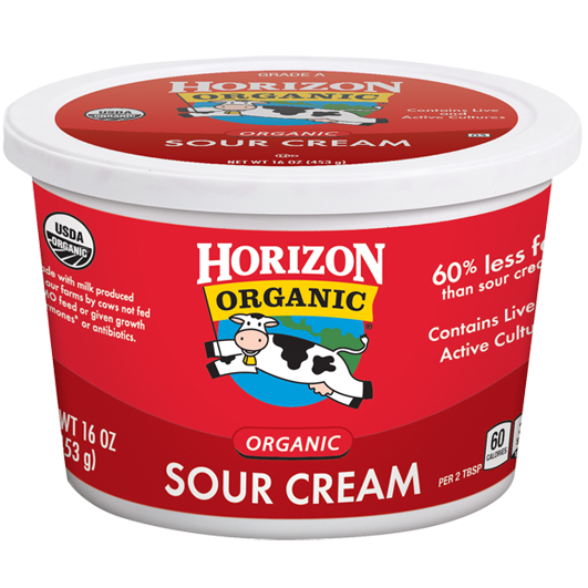 Sour Cream, Horizon® Organic Sour Cream (16 oz Cup)