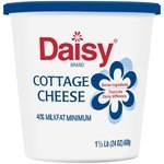 Cottage Cheese, Daisy® 4% Lowfat Cottage Cheese (24 oz Cup)