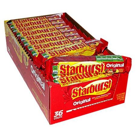 Candy, Wrigley® Starburst® Fruit Chews (2.07 oz Bar)