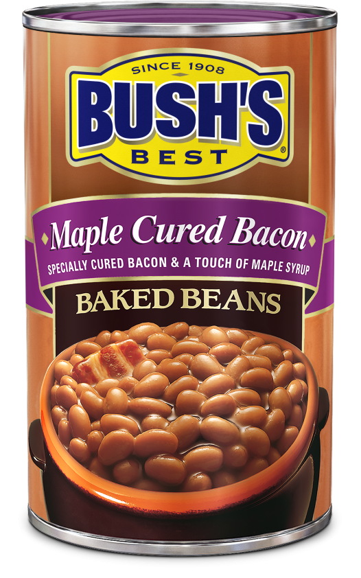 """Canned Beans, Bush's® """"Maple Cured Bacon"""" Baked Beans (28 oz Can)"""