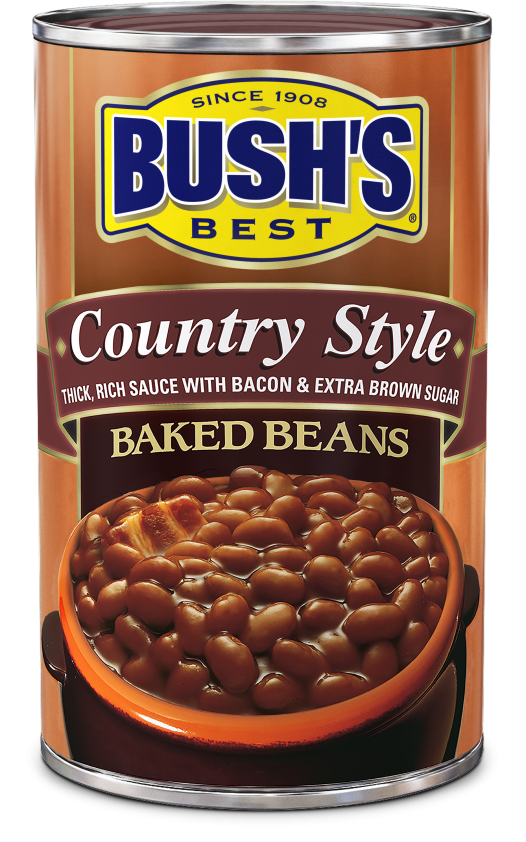 "Canned Beans, Bush's® ""Country Style"" Baked Beans (28 oz Can)"
